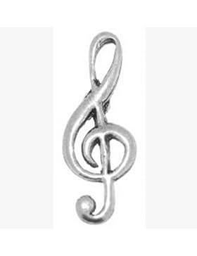 Geschenkbox Zinn Musik Musiker Violinschlüssel Krawatte–Anstecker/Brosche