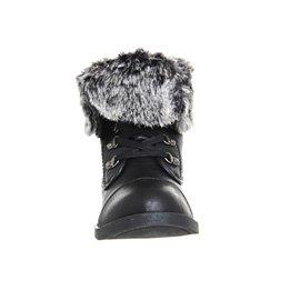 Blowfish Karona Stiefelette Black Old Saddle Black Grey Faux Fuzzy