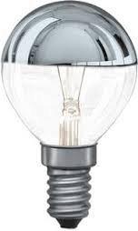 Preisvergleich Produktbild Tropfenlampe kopfverspiegelt 25 Watt silber Kopfspiegellampe E14 - Osram