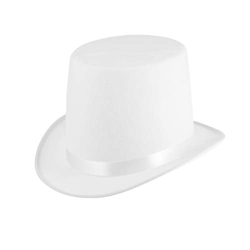 Amosfun Dress Up Top Hat Zauberer Hut Lincoln Hats Kostüm Party Zubehör (Lincoln Kostüm)