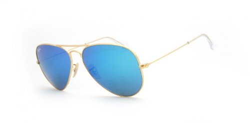 Ray-Ban Mod. 3025 Sun  Sonnenbrille, Matte Gold - Cry.Green  Mirror Multil.Blue