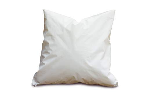 Clinotest Kopfkissenschutzbezug aus PU, wasserdicht und atmungsaktiv, Verschiedene Größen, in der Farbe weiß (80x80 cm) -