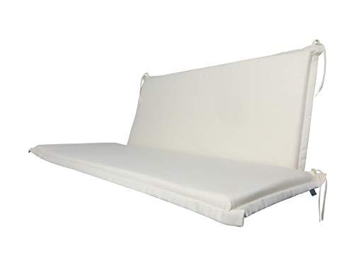 Doppler 2 teilige Luxus 2-Sitzer Bankauflage 900', ca. 100 x 45 x 4 cm und 90 x 45 x 4 cm, Uni Natur, 501210900
