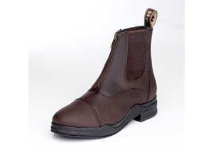 HyFOOTWEAR Wax Leather Zip Boot - adult - brown - 4 (HyFootwear Lederwachs- Reitstiefelette, Braun,...