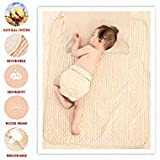 Organic Cotton Waterproof Newborn Infant Baby Bassinet Bedding Mattress Pads Bed Wet Diaper