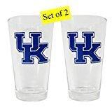 Sports Team Zubehör Kentucky Wildcats 16Unze Getränk Glas mit Logo, Unisex-Erwachsene