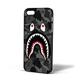 Bape Shark Black Army Pattern for coque Iphone Case coque (coque Iphone 6s Black)