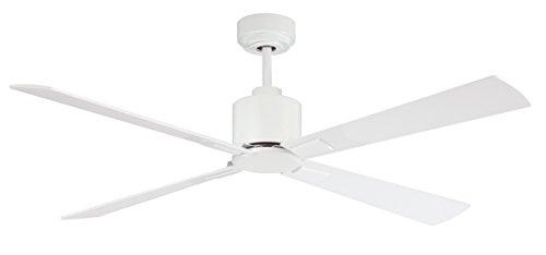 Deckenventilator LUCCI AIR Airfusion Climate DC, 132 cm, Weiß, 6 Geschwindigkeiten, Eco-DC-Motor Energiesparend, mit Fernbedienung (Air Motor)