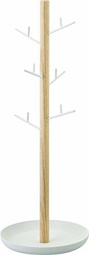 Gerson 2310 Arbre à Bijoux avec 6 Branches, ABS/Acrylonitrile/Butadiène/Styrène, Blanc, 13 cm