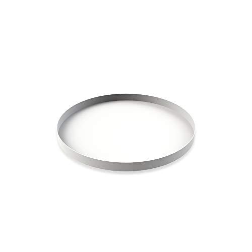 Cooee Design Tray Tablett, Edelstahl, Weiß, 30 cm Design Tray