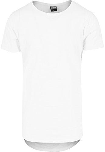 Urban Classics Herren Langarmshirt T-Shirt Long Back Shaped Slub Tee Weiß (Weiß) Medium (Mann Lange Tee)