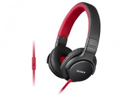 Sony Stereo Headphones With Mic (Red)