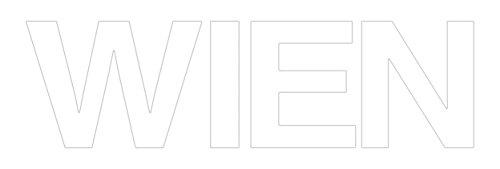 """Eurographics Art Words AW-DF2087, 3D Buchstaben """"WIEN"""", Wandtattoo, weiß, 60 x 25 x 1,4 cm"""