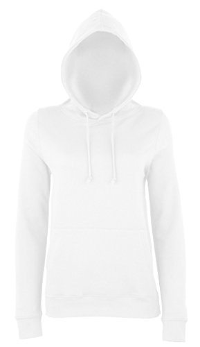 JH001F Girlie College Hoodie Mädchen Kapuzen Sweatshirt Damen Arctic White