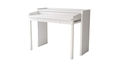 PKline Schreibtisch Conley teilmassiv Bürotisch Arbeitstisch Computer Holz Tisch weiß