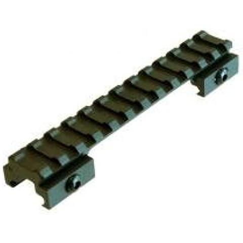 Tactical Picatinny/Weaver Bridge Mount, .5 Riser, 5 Long, 12 Slots by Lion Gears