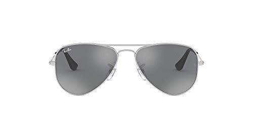Ray-Ban Aviator Junior Montures de lunettes, Argenté (Silver/Grey Silver Mirror), 50 Mixte Enfa