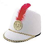 Majorettes Kostüm - Nummer Rio Hut Majorette Weiß