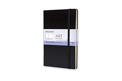Moleskine Kreativ-Notizbücher, Japanisches Album Large, Hardcover schwarz