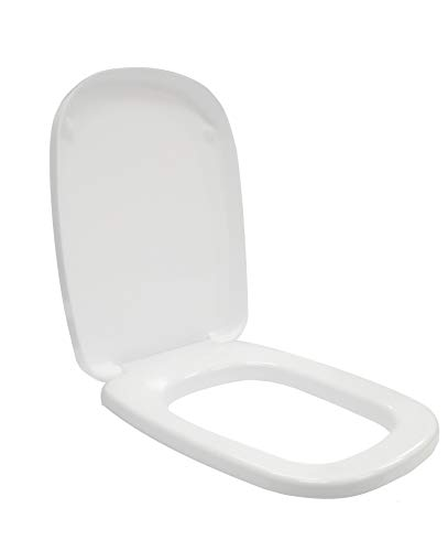 Ceramica dolomite j105100 sedile copriwater fleo originale colore bianco con cerniere in metallo