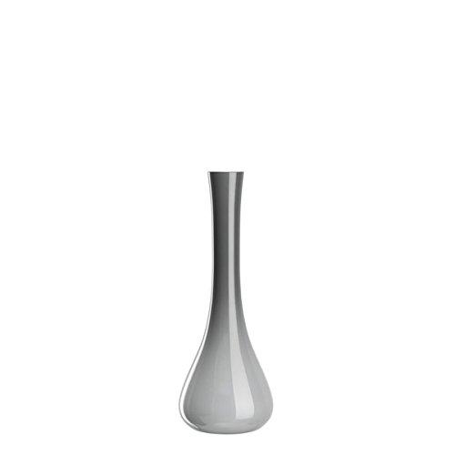 Leonardo Vaso in vetro, 40 cm, colore: grigio