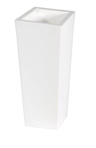 CULTT Cube 39x85cm weiß Pflanzgefäß Pflanztopf Blumentopf Bewässerungssystem Pflanzkübel