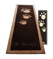 Pet Rebellion Teppich/Läufer, Pfotenabdruckmotiv, 45x150cm, Schwarz