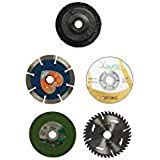 Combo Wheel Grinder/4 Inch Cutting Wheel (Set of 5)