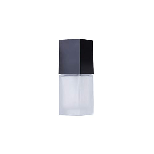 CHIRORO 1 Stück Leer transparent Scrub Glasflasche Kosemtik Creme Lotion Gel Sahne Sonnencreme Essenz Pumpflasche Platz Pumpe Lotion Flasche,20ml -