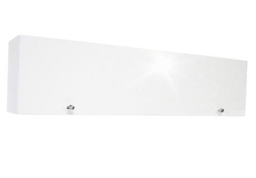 RODRIGO Badschrank weiß 80 cm breit Badmöbel Hängeschrank Schrank Hänger Hochglanz 80 (korpus matt weiß + weiß Hochglanz, 80x30x22 (L/H/B))