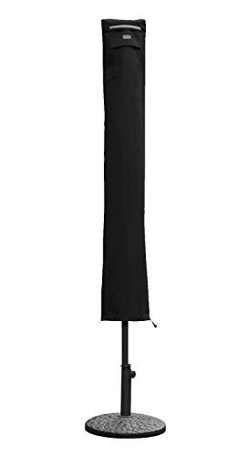 Sekey Schutzhülle für Sonnenschirm, Abdeckhauben für Sonnenschirm, Schwarz (136×23,5/25 cm)
