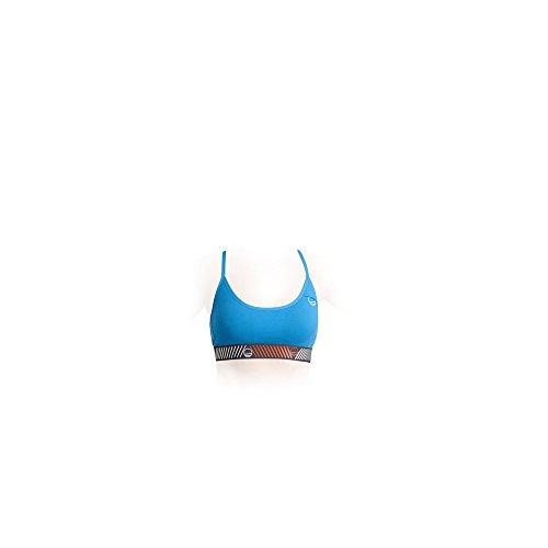 Donna Sport Top reggiseno cyan blue
