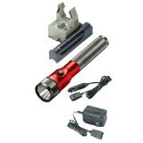 Streamlight STL75612 Stinger LED Rechargeable Flashlight With AC-DC And PiggyBack - Red