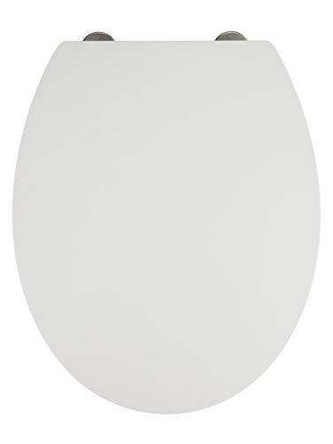 Wenko Premium WC-Sitz Mora Toiletten mit Absenkautomatik, rostfreie Fix-Clip Hygiene Edelstahlbefestigung, 1 Stück, 22417100