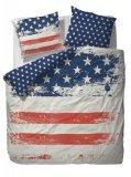 Covers & Co Bettwäsche USA, Renforcé, weiß/rot/blau, Größe Bettwäsche:135 x 200 cm