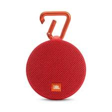JBL Clip 2 Waterproof Portable Bluetooth Speaker - Red