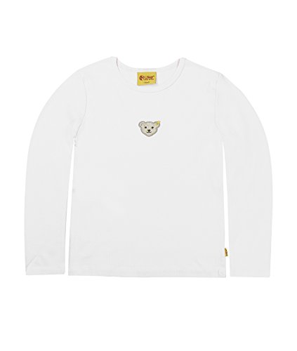Steiff Steiff Unisex - Baby Sweatshirt 1/1 Arm, Einfarbig, Gr. 68, Weiß (Bright White White 1000)