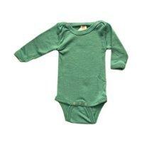 Baby Body langarm, 70% Wolle (kbT) und 30% Seide, Engel Natur (98/104, Eisvogel) Planet Seide