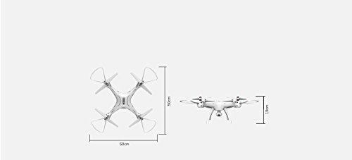 trendy planets® SYMA X8PRO GPS WIFI FPV RC Quadrocopter mit 1MP HD Kamera / Hover Funktion Headless Modus RTF 2,4 GHz / Neuheiten 10/2017 (X8PRO, white) - 8