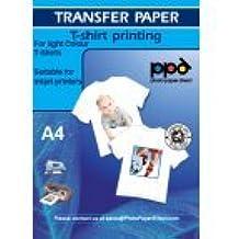 10 x Papel de transferencia de tinta A4 para camisetas de blancas y claras