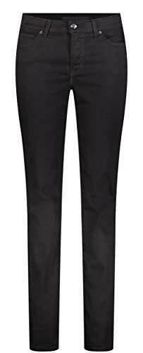 MAC Damen Straight Leg Jeanshose Melanie, Schwarz (Black- black D999), W46/L32