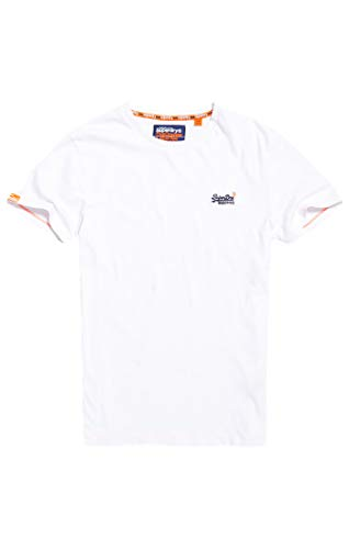Superdry Herren ORANGE Label Vintage EMB Tee T-Shirt, Weiß (Optic White 26C), X-Large