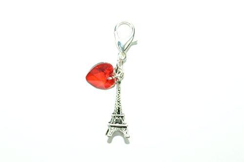 (Eiffelturm Clip auf Charme in rot Geschenkbox von Libby 's Market Place)