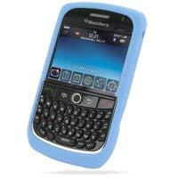 PDair Blackberry Curve 8900 Javelin Silikonhülle Haut (Hellblau), 360 ° Ganzkörper-Schutzhülle aus Weichem Gel Slim Fitted Cover, Einfach Luxus-Silikon-Etui für, Telefonkasten Cover Blackberry Javelin