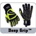 Profondeur ceste Grip Grip gr-3026 S Pro Series Deep Impact Gant résistant aux huiles, Coupe travail, résistant, petit, vert