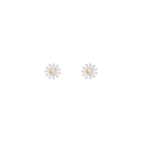 Einfach Niedlich Kostüm Weiblichen - JJLEZl Kornblume Frische Dreidimensionale Niedliche Blume Ohrringe Weibliche Einfache Vielseitige Student Kontrastfarbe Ohrringe