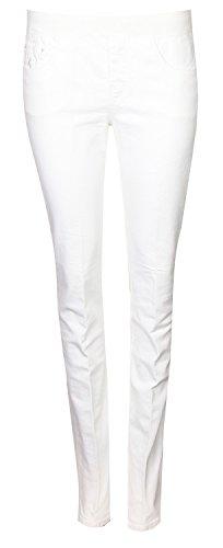 European Culture Damen Jeans Weiß 06AU3814-0101, size:L