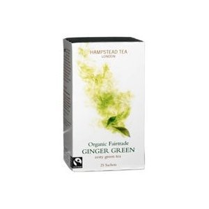 HAMPSTEAD TEA Bio Grüner Ingwer Tee 25 Teebeutel 50 g