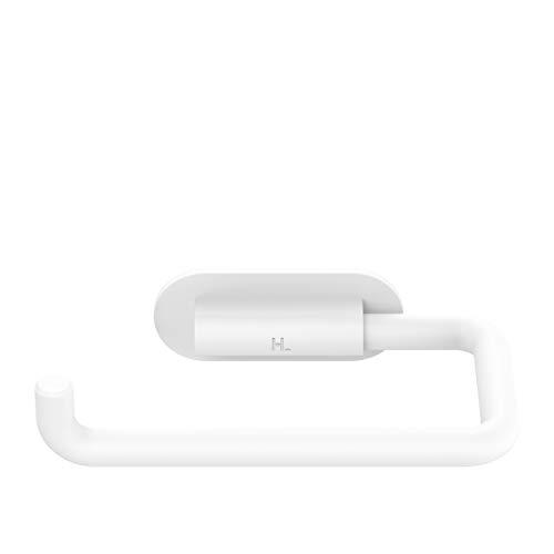 Linglong Toilettenpapierhalter für Badezimmer, selbstklebend, 3 m, ohne Bohren Toilettenpapierrollen, stabile, starke Halterungen für Toilette, Küche, 12,7 cm lang (moderne Euro-Weiß)