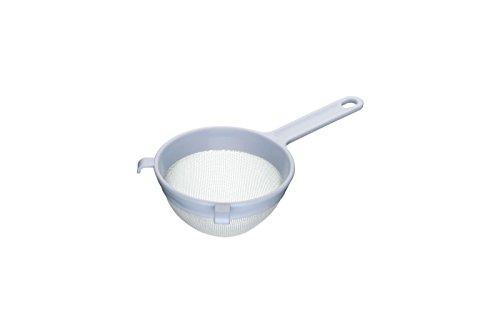 Kitchen Craft KCSTRPL120 Rundes Sieb, Kunststoff, mit Nylongeflecht, 12  x  12 x  30 cm, Weiß Sieb Sieb